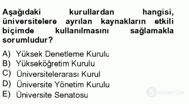 Türk Eğitim Tarihi Bahar Final 15. Soru
