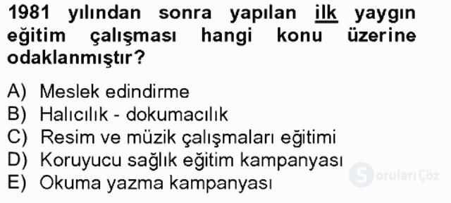 Türk Eğitim Tarihi Bahar Final 18. Soru