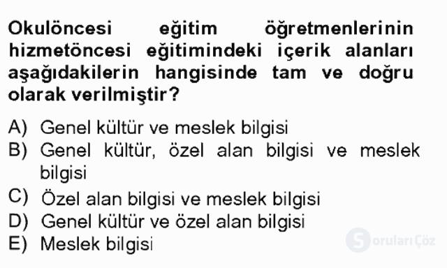 Türk Eğitim Tarihi Bahar Final 3. Soru