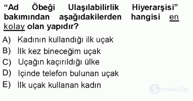Genel Dilbilim I Tek Ders 20. Soru