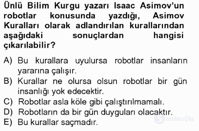 Temel Bilgi Teknolojileri II Tek Ders 1. Soru