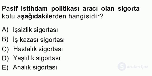 Sosyal Politika Tek Ders 11. Soru