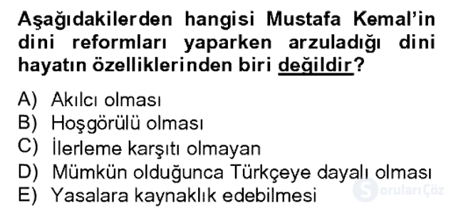 Türk Siyasal Hayatı Bahar Dönemi Final Final 13. Soru