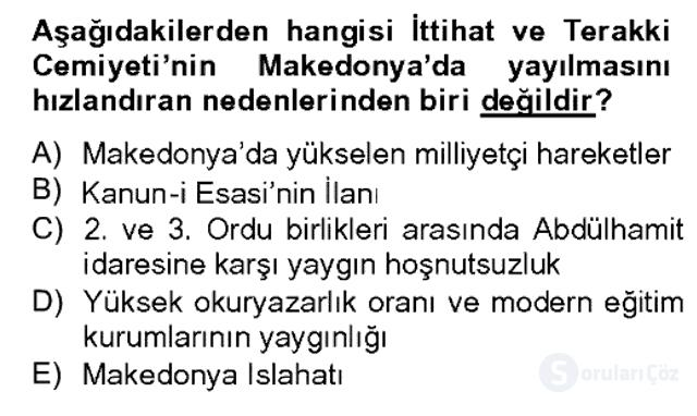 Türk Siyasal Hayatı Bahar Dönemi Final Final 2. Soru