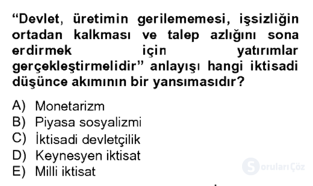 Türk Siyasal Hayatı Bahar Dönemi Final Final 20. Soru