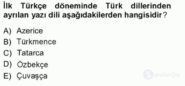 Türk Dili I Tek Ders 1. Soru