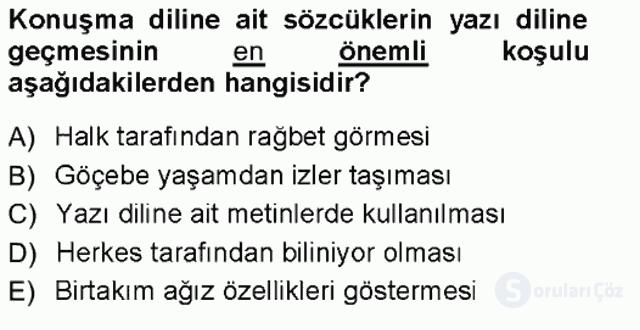 Türk Dili I Tek Ders 13. Soru