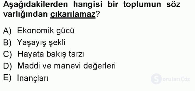 Türk Dili I Tek Ders 15. Soru