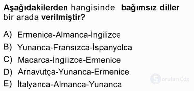 Türk Dili I Tek Ders 2. Soru