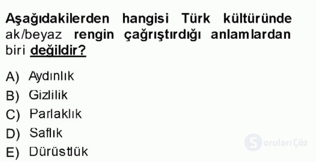 Türk Dili I Tek Ders 3. Soru