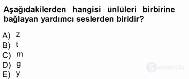 Türk Dili I Tek Ders 7. Soru