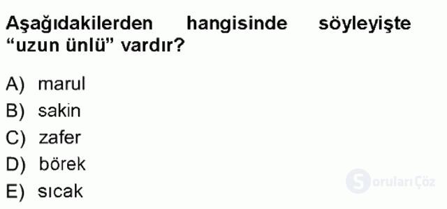 Türk Dili I Tek Ders 8. Soru