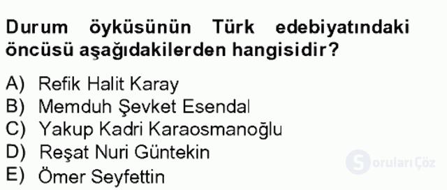 Türk Dili II Tek Ders 10. Soru