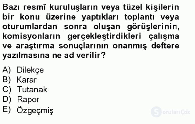 Türk Dili II Tek Ders 12. Soru
