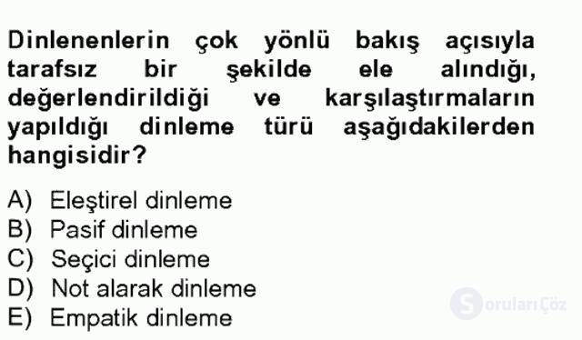 Türk Dili II Tek Ders 13. Soru