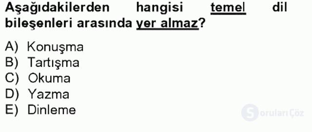 Türk Dili II Tek Ders 14. Soru
