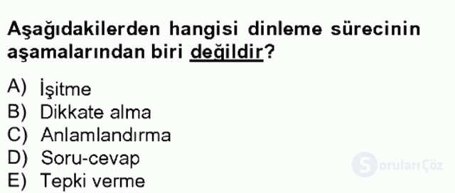 Türk Dili II Tek Ders 15. Soru