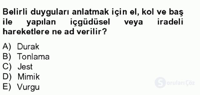 Türk Dili II Tek Ders 19. Soru