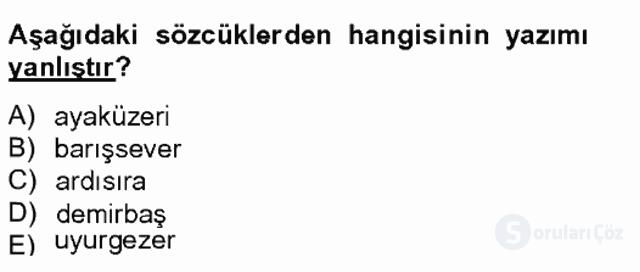 Türk Dili II Tek Ders 6. Soru