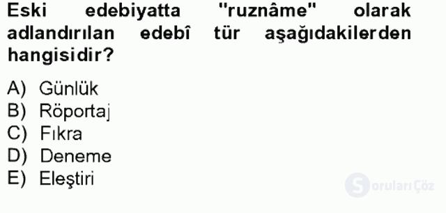 Türk Dili II Tek Ders 7. Soru